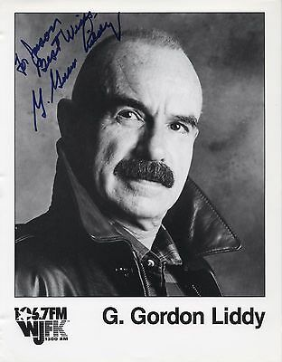 G. GORDON LIDDY Watergate AUTOGRAPHED SIGNED PHOTO PICTURE ORIGINAL PROOF Promo