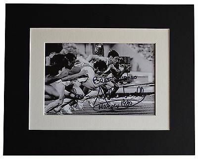 Allan Wells Signed Autograph 10x8 photo display Olympics 100m Sport AFTAL & COA