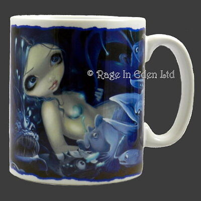 *IN THE ABYSS* Fantasy Mermaid Art White Ceramic Mug By Jasmine Becket-Griffith