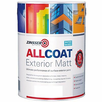 Zinsser Allcoat Multi-Surface Self-Primer Extérieur 8 Year Wb Blanc Mate 2.5L