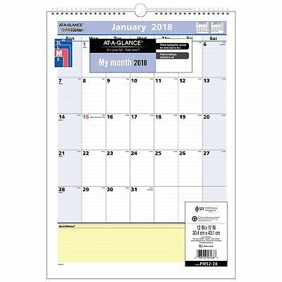 At-A-Glance PM52-28 Quicknotes Wall Calendar, 12 X 17, 2018 (pm5228)
