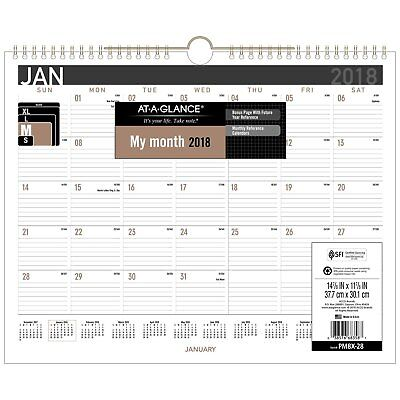 At-A-Glance PM8X28 Contemporary Medium Monthly Wall Calendar, 14 7/8 X 11 7/8,