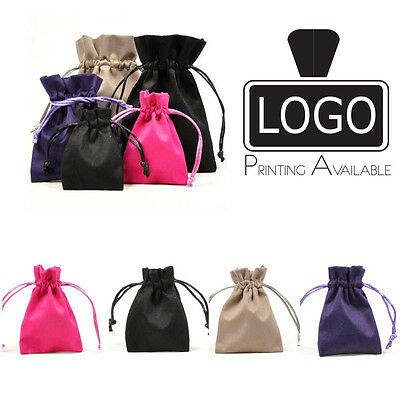 Luxury Suede/Velvet Jewellery Gift Pouch Gift Bag 60x85mm Printing Available
