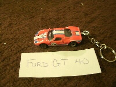 Ford Gt Gt Ford Gt Cast Model Car Keychain Keyring New Red