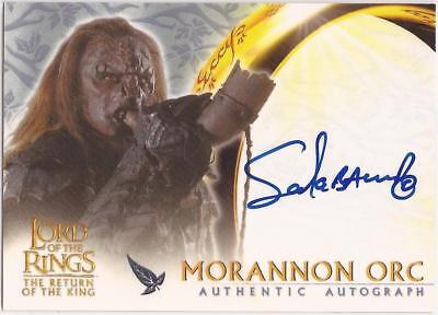 Lord Of The Rings  Richard Taylor Or Sala Baker   Autograph  Card  Rotk
