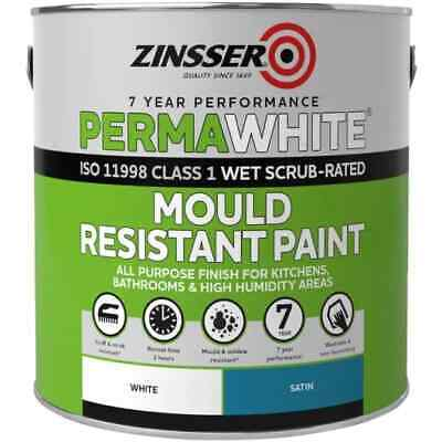 Zinsser Perma-White Interior Satin Mould Resistant Paint For High Humidity 2.5L