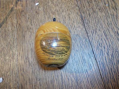 Antique  Mauchline Ware Lidded Pot Fruit Shaped Douglas Isle Of Man Rountree Co