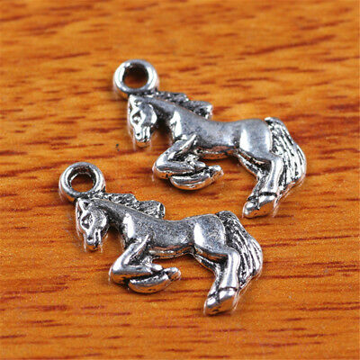 50 Pieces 22*10mm Galloping horse Charms Tibetan Silver DIY Jewelry Charm 7237B