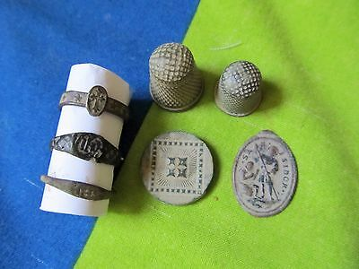 awesome 7 Ancient lot Spanish Medieval- Contemporary Artifacts 16-19th. C