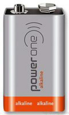 Battery, Power One, Box of 200, 9 V, PP3, Alkaline, 550 mAh, Snap Contact
