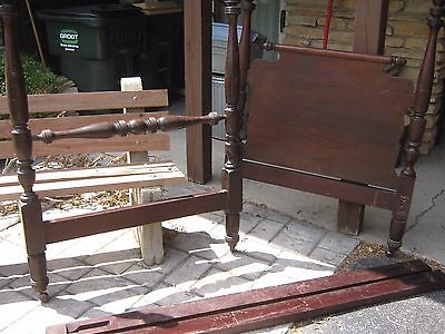 Antique Four 4 Post Bed Single/Twin Mahogany?