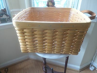 Longaberger  Small Wash Day Laundry Basket With Protector