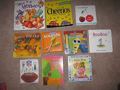 Lot of 10 Board Books for Children Chicka Chicka ABC Cheerios Handy Many NFL 123