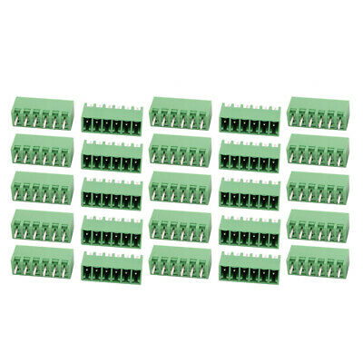 25Pcs LZ1V 3.5mm Pitch 6P PCB Mounting Terminal Block Wire Connector