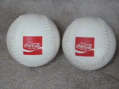 Lot Of 2 Vintage Enjoy Coca Cola Coke Advertising Soda Softballs