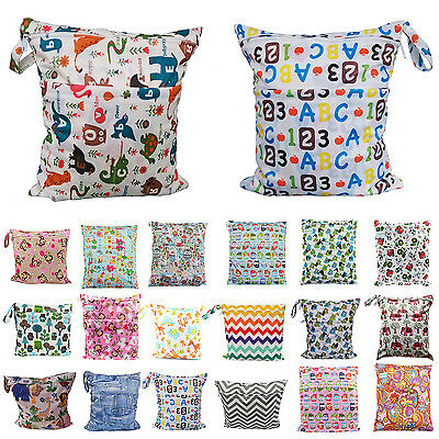 Baby Nappy Waterproof Reusable Washable Wet Dry Cloth Zip Diaper Swimmer Bag CH