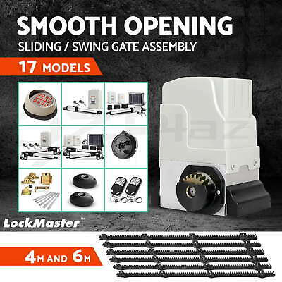 LockMaster Gate Opener Electric Sliding Swing Roller Auto Remote Keypad Hardware