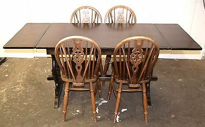 Ercol Style Extending Dining Table and 4 Chairs - 2531