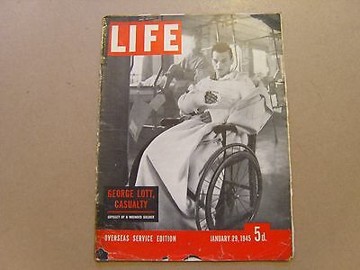 LIFE MAGAZINE OVERSEAS SERVICES EDITION - 29th JANUARY 1945 - IMAGES FOR CONTENT