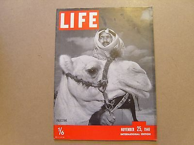 LIFE MAGAZINE INTERNATIONAL EDITION - 25th NOVEMBER 1946 - IMAGES FOR CONTENTS