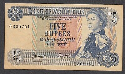 5 Rupees From Mauritius A1