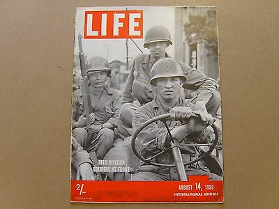 LIFE MAGAZINE INTERNATIONAL EDITION - 14th AUGUST 1950 - IMAGES FOR CONTENTS