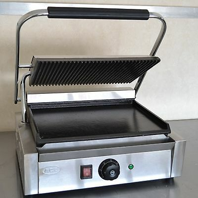 SPECIAL OFFER NEW Panini Machine, Contact Grill Toaster Sandwich Maker flat/rib