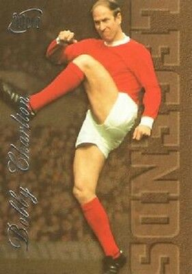 Manchester United   1997 Bobby Charlton Silver Legends Card L3  By Futera