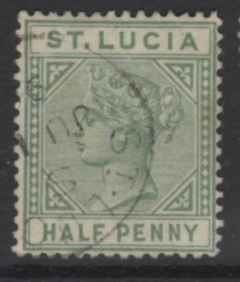 ST.LUCIA SG43 1891 ½d DULL GREEN USED
