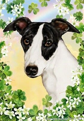 Large Indoor/Outdoor Clover Flag - Whippet 31062