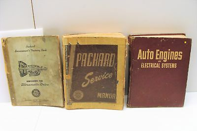 Vintage Packard Automotive Service Manuals Qty 3 Ultramatic Drive Engines Elec