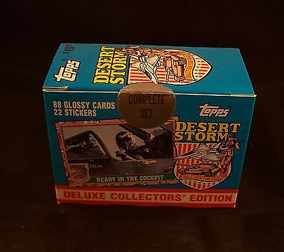 DESERT STORM  Factory Sealed trading card set Deluxe Collectors' Edition