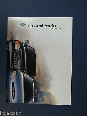 1999  Ford Cars And Trucks Full Line Sales Brochure C7828