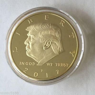 2017 New 45th US DONALD TRUMP Inauguration Gold Plated coin President V01
