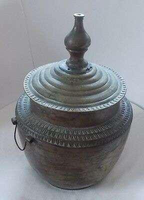 Antique Philippine decorated brass vessel GADOR for Moro wedding ceremony 1930's
