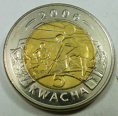 2006 Malawi 5 Kwacha BU Brilliant Uncirculated Condition