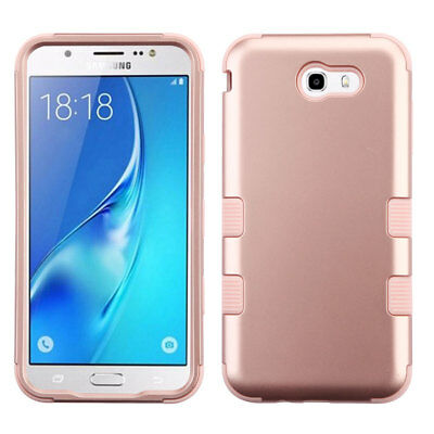 For Samsung Galaxy J7 Prime J727T 2017/Halo Rose Gold Tuff Case Impact Cover