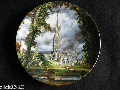 "Crown Staffs' 7.5"" Bone China Plaque  'constable Salisbury Cathedral' Ex"