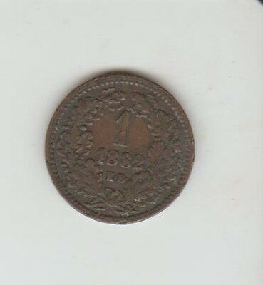 Hungary ,1882 , Krajezar, Fine Condition ,see Pictures