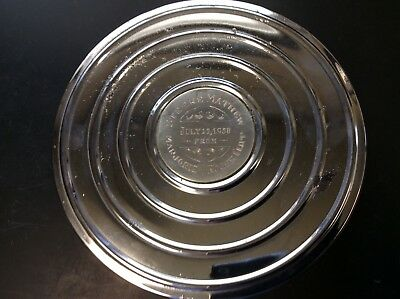 "Vintage 8MM 7"" Canister Custom Chrome 1958 Reel, Movie one of a kind dated, GIFT"