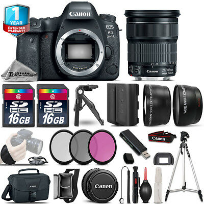 Canon EOS 6D Mark II DSLR Camera + EF 24-105mm IS STM + 1yr Warranty - 64GB Kit