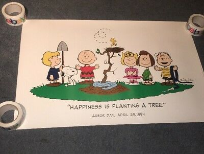 ARBOR DAY CHARLIE BROWN happiness Is Planting A Tree 1994  promo poster