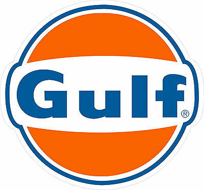 "Gulf Logo Gas Gasoline Oil Vintage Style Metal Large 27.25"" x  25.5"" Steel Sign"