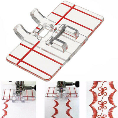 1pc Clear Parallel Stitch Foot Presser For Domestic Home Sewing Machine NEW