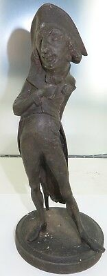 .SUPERB / TALL / FRENCH 1800's FIGURAL SPELTER CANDLESTICK HOLDER