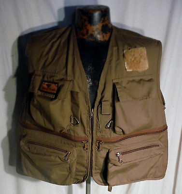 "Mens Xl Buley's Fishing Outdoorsman Zip Usa Made Vest ""lots Of Pockets"""