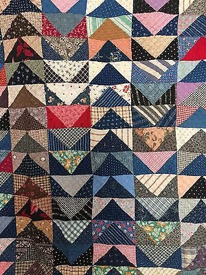 Antique Hand Sewn Triangle Quilt