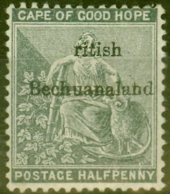Bechuanaland 1886 1/2d Grey-Black SG4a ritish Error Fine Fresh Lightly Mtd Mint