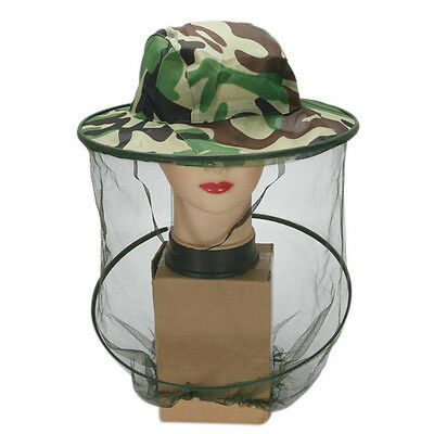 Midge Mosquito Insect Hat Bug Mesh Head Net Face Protector Traveling Camping NR