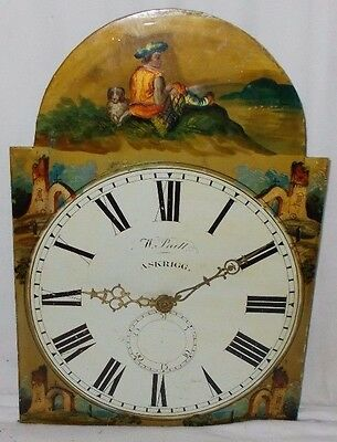 Antique GRANDFATHER Clock MOVEMENT With PAINTED DIAL Askrigg W.PRATT Yorkshire
